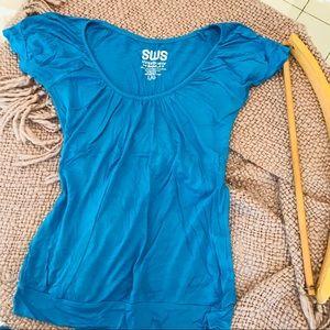 NEW Aqua Blue Comfortable Fit T-Shirt